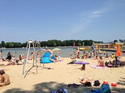 Beach in the City at Maarsseveense Plassen