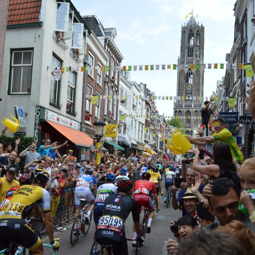 The riders by the Dom tower on the Second stage. For me, the best photo I've taken during Le Tour