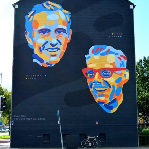 Tour des Artes mural on Cartesiusweg