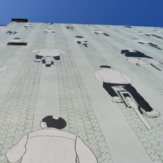 """Mural """"Peloton"""" at Wulstraat"""