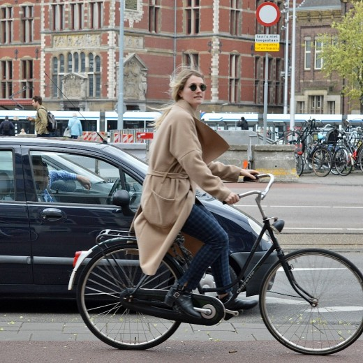 An omafiets on the run in Amsterdam