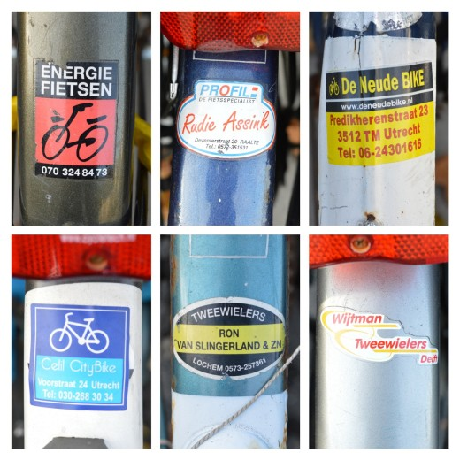 Bicycle shop stickers, you'll notice usually every bicycle has one